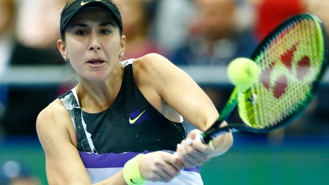 <p>               Belinda Bencic of Switzerland returns against Anastasia Pavlyuchenkova of Russia during the final match of the Kremlin Cup tennis tournament in Moscow, Russia, Sunday, Oct. 20, 2019. (AP Photo/Alexander Zemlianichenko)             </p>