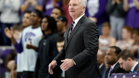 <p>               FILE - In this March 4, 2019, file photo, Kansas State head coach Bruce Weber watches his team play during an NCAA college basketball game against TCU in Fort Worth, Texas. Weber walked into the Kansas State practice gym a year ago knowing precisely what to expect, thanks in part to five returning starters and a bevy of experience sitting on his bench. (AP Photo/Tony Gutierrez, File)             </p>