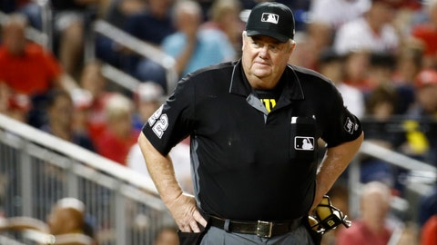 <p>               FILE- In this Sept. 27, 2019, file photo, umpire Joe West stands on the field during a baseball game between the Cleveland Indians and the Washington Nationals in Washington. West has sued retired player Paul LoDuca for defamation after the former catcher alleged West gave pitcher Bill Wagner a bigger strike zone in exchange for letting the umpire borrow a vintage car. (AP Photo/Patrick Semansky, File)             </p>