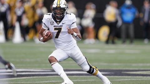<p>               Missouri quarterback Kelly Bryant runs the ball against Vanderbilt in the first half of an NCAA college football game Saturday, Oct. 19, 2019, in Nashville, Tenn. (AP Photo/Mark Humphrey)             </p>
