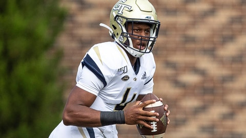 <p>               FILE - In this Oct. 12, 2019, file photo, Georgia Tech's James Graham looks to pass during an NCAA college football game against Duke, in Durham, N.C. Coach Geoff Collins started his rebuilding effort at Georgia Tech with a young team. The Yellow Jackets, who play Pittsburgh on Saturday, look even younger after losing three senior starters on offense to injuries and turning to freshman James Graham at quarterback. (AP Photo/Ben McKeown, File)             </p>