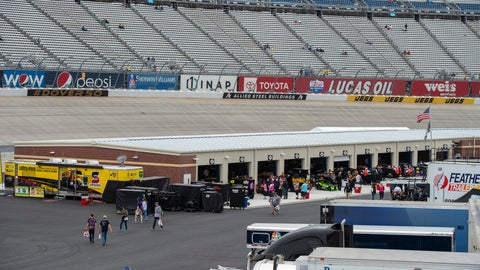 <p>               The new garage area is viewed before the Drydene 400 - Monster Energy NASCAR Cup Series playoff auto race, Sunday, Oct. 6, 2019, at Dover International Speedway in Dover, Del. (AP Photo/Jason Minto)             </p>