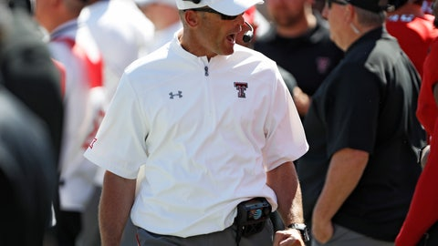 <p>               Texas Tech coach Matt Wells yells to his players during the second half of an NCAA college football game against Oklahoma State, Saturday, Oct. 5, 2019, in Lubbock, Texas. (AP Photo/Brad Tollefson)             </p>