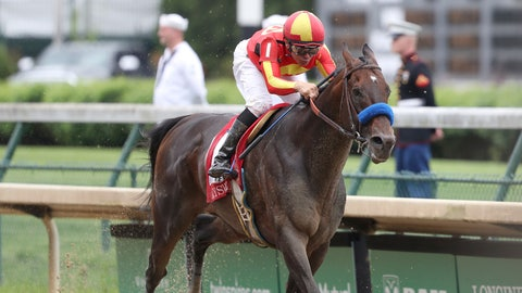 <p>               FILE - In this May 3, 2019, file photo, McKinzie, ridden by jockey Mike Smith, wins the Grade 2 Alysheba horse race at Churchill Downs in Louisville, Ky. The Breeders' Cup Classic pits West Coast star McKinzie against Code of Honor, the East's top horse who finished second in the Kentucky Derby. (AP Photo/Gregory Payan, File)             </p>