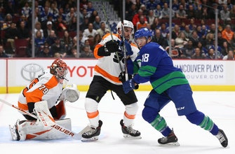 Pearson scores in shootout, Canucks beat Flyers 3-2