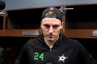Roope Hintz scored a goal in Dallas' loss to Detroit