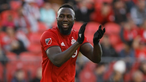 <p>               Toronto FC forward Jozy Altidore reacts after a shot on goal against the Columbus Crew during the second half of an MLS soccer match in Toronto, Sunday, Oct. 6, 2019. (Cole Burston/The Canadian Press via AP)             </p>