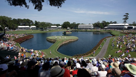 <p>               FILE - In this May 9, 2014, file photo, golfers play the 17th hole during the second round of The Players Championship golf tournament at TPC Sawgrass in Ponte Vedra Beach, Fla. In a first for golf, The Players Championship will make available live streaming coverage of every shot from every player.(AP Photo/John Raoux, FIle)             </p>