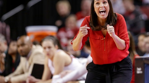 <p>               FILE - In this Feb. 1, 2018 file photo, Nebraska coach Amy Williams calls instructions during the first half of the team's NCAA college basketball game against Illinois in Lincoln, Neb. Nebraska is looking to bounce back in the Big Ten after finishing 14-16 and tying for sixth place at 9-9. Williams has shown she can lead a turnaround. In 2017-18, the Huskers won 14 games more than the year before and reached the NCAA Tournament. Last season, the Huskers fell off with a young and inexperienced team and lost 10 games by six points or less. (AP Photo/Nati Harnik, File)             </p>