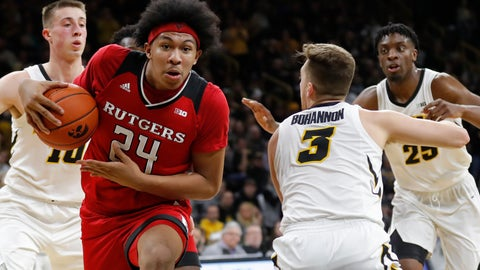 <p>               File-This March 2, 2019, file photo shows Rutgers forward Ron Harper Jr. (24) driving to the basket past Iowa guard Jordan Bohannon (3) during the first half of an NCAA college basketball game, in Iowa City, Iowa. The Scarlet Knights have not had a winning season since 2005-06, when they posted a 19-14 record and were selected to play in the NIT. They have had five winning seasons since 1990-91, the last time they made the NCAA Tournament. Now entering his fourth season, Steve Pikiell is the sixth coach attempting to get Rutgers back to the NCAA Tournament.(AP Photo/Charlie Neibergall,File)             </p>
