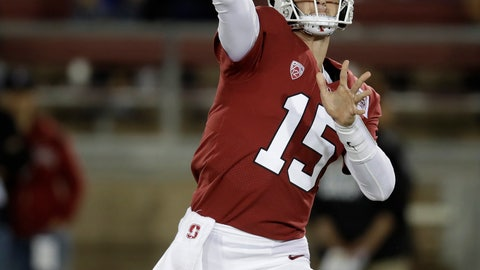 <p>               Stanford quarterback Davis Mills passes against Washington during the first half of an NCAA college football game Saturday, Oct. 5, 2019, in Stanford, Calif. (AP Photo/Ben Margot)             </p>