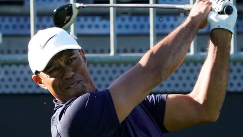 <p>               Tiger Woods of the United States watches his tee shot on the 10th hole during the pro-am event of he Zozo Championship PGA Tour at Accordia Golf Narashino C.C. in Inzai, east of Tokyo, Japan, Wednesday, Oct. 23, 2019. (AP Photo/Lee Jin-man)             </p>