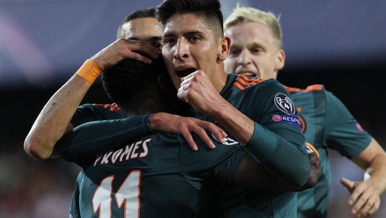 Ajax beats Valencia for 2nd straight win in Champions League