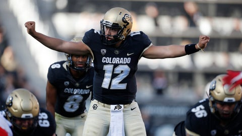 <p>               Colorado quarterback Steven Montez directs a play as he prepares to take the snap in the second half of an NCAA college football game against Arizona Saturday, Oct. 5, 2019, in Boulder, Colo. Arizona won 35-30. (AP Photo/David Zalubowski)             </p>