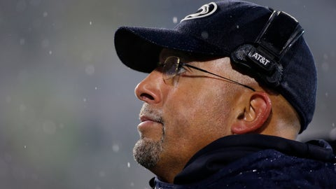 <p>               Penn State coach James Franklin watches the second half of an NCAA college football game against Michigan State, Saturday, Oct. 26, 2019, in East Lansing, Mich. (AP Photo/Al Goldis)             </p>