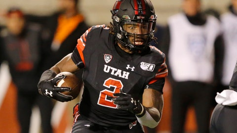 <p>               Utah running back Zack Moss (2) carries the ball against California in the first half in an NCAA college football game Saturday, Oct. 26, 2019, in Salt Lake City. (AP Photo/Rick Bowmer)             </p>