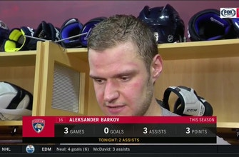 Aleksander Barkov on not being able to overcome large deficit vs. quality Carolina team