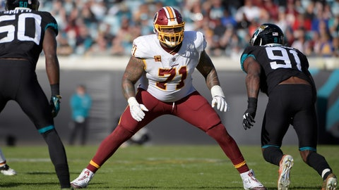 <p>               FILE - In this Dec. 16, 2018, file photo, Washington Redskins offensive tackle Trent Williams (71) sets up to block in front of Jacksonville Jaguars defensive end Yannick Ngakoue (91) during the second half of an NFL football game in Jacksonville, Fla. A person with knowledge of the situation says Williams has reported to the Redskins, ending his holdout. The person spoke to The Associated Press on condition of anonymity on Tuesday, Oct. 29, 2019, because the team had not announced Williams' return. He can be kept off the 53-man roster for up to three weeks after reporting. (AP Photo/Phelan M. Ebenhack, File)             </p>