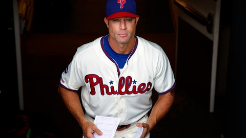 <p>               FILE - In this Sept. 29, 2019, file photo, Philadelphia Phillies manager Gabe Kapler walks to the dugout before a baseball game against the Miami Marlins, in Philadelphia. The Phillies fired Kapler Thursday, Oct. 10, 2019. (AP Photo/Matt Slocum, File)             </p>