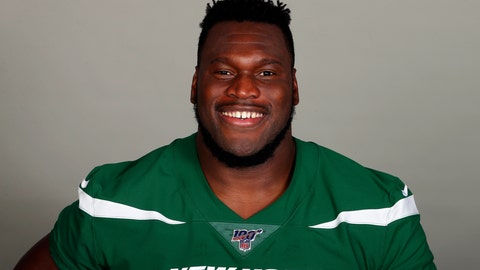 <p>               FILE - This is a 2019, file photo, shows Kelechi Osemele of the New York Jets NFL football team. Osemele is having surgery on his ailing right shoulder despite the team not approving the procedure. The operation to repair a torn labrum was performed Friday, Oct. 25, 2019, by Dr. Glen Ross in Boston, according to Osemele's agent Andrew Kessler. (AP Photo/File)             </p>