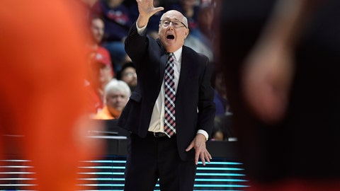 <p>               Washington Mystics head coach Mike Thibault gives instructions from the bench during the second half in Game 3 of basketball's WNBA Finals against the Connecticut Sun, Sunday, Oct. 6, 2019, in Uncasville, Conn. (AP Photo/Jessica Hill)             </p>