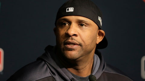 <p>               New York Yankees pitcher CC Sabathia talks to reporters at Yankee Stadium, Thursday, Oct. 3, 2019, in New York. The Yankees will host the Minnesota Twins in the first game of an American League Division Series on Friday. (AP Photo/Seth Wenig)             </p>
