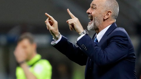 <p>               FILE - In this Monday, April 3, 2017 file photo, Inter Milan coach Stefano Pioli gives indications to his players during a Serie A soccer match between Inter Milan and Sampdoria, at the San Siro stadium in Milan, Italy. AC Milan has hired Stefano Pioli as its new coach on a two-year contract. Pioli, who has previously coached the Rossoneri's city rival Inter Milan, replaces the fired Marco Giampaolo. (AP Photo/Antonio Calanni, File)             </p>