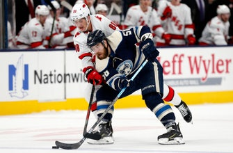 Atkinson scores in OT to lift Blue Jackets over Hurricanes