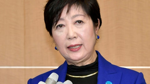 <p>               FILE - In this Wednesday, Oct. 30, 2019, file photo, Tokyo Gov. Yuriko Koike speaks to reporters after a meeting with International Olympic Committee officials in Tokyo. The International Olympic Committee abruptly announced two weeks ago it was moving next year's Olympic marathon from Tokyo to the northern city of Sapporo. The change has infuriated Koike and created a public fight between the powerful, Switzerland-based IOC, and Tokyo which is spending about $25 billion to organize the Olympics - 80% public money. (Kyodo News via AP, File)             </p>
