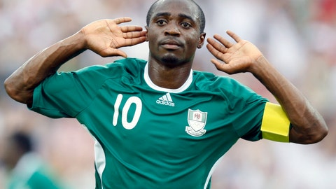 <p>               FILE - In this Aug. 13, 2008, file photo, Nigeria's Promise Isaac celebrates after scoring against the United States during a soccer match at the 2008 Olympics in Beijing. Promise Isaac, who captained Nigeria to the 2008 Olympic silver medal and scored 79 goals in 11 professional seasons in Turkey, died late Wednesday, Oct. 2, 2019, after collapsing at his apartment gym in Austin, Texas, authorities said. He was 31. (AP Photo/Luca Bruno, File)             </p>
