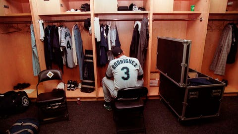 <p>               FILE - In this Oct. 5, 1997, file photo, Seattle Mariners' Alex Rodriguez sits in the locker room following their 3-1 loss to the Baltimore Orioles in Game 4 of the American League Division Series at Camden Yards in Baltimore. The Seattle Mariners are the only baseball franchise never to advance to the Fall Classic. Baseball has never been played in Seattle beyond Oct. 22. The Mariners have three times been to the American League Championship Series, and all three times were sent home before there could ever be a Game 7. (AP Photo/Doug Mills, File)             </p>