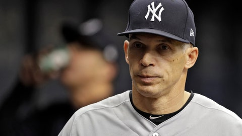 <p>               FILE - This May 20, 2017 file photo shows New York Yankees manager Joe Girardi during a baseball game against the Tampa Bay Rays in St. Petersburg, Fla.  Person familiar with deal tells AP the Philadelphia Phillies are hiring Girardi as manager, Thursday, Oct. 24, 2019.   (AP Photo/Chris O'Meara, File)             </p>