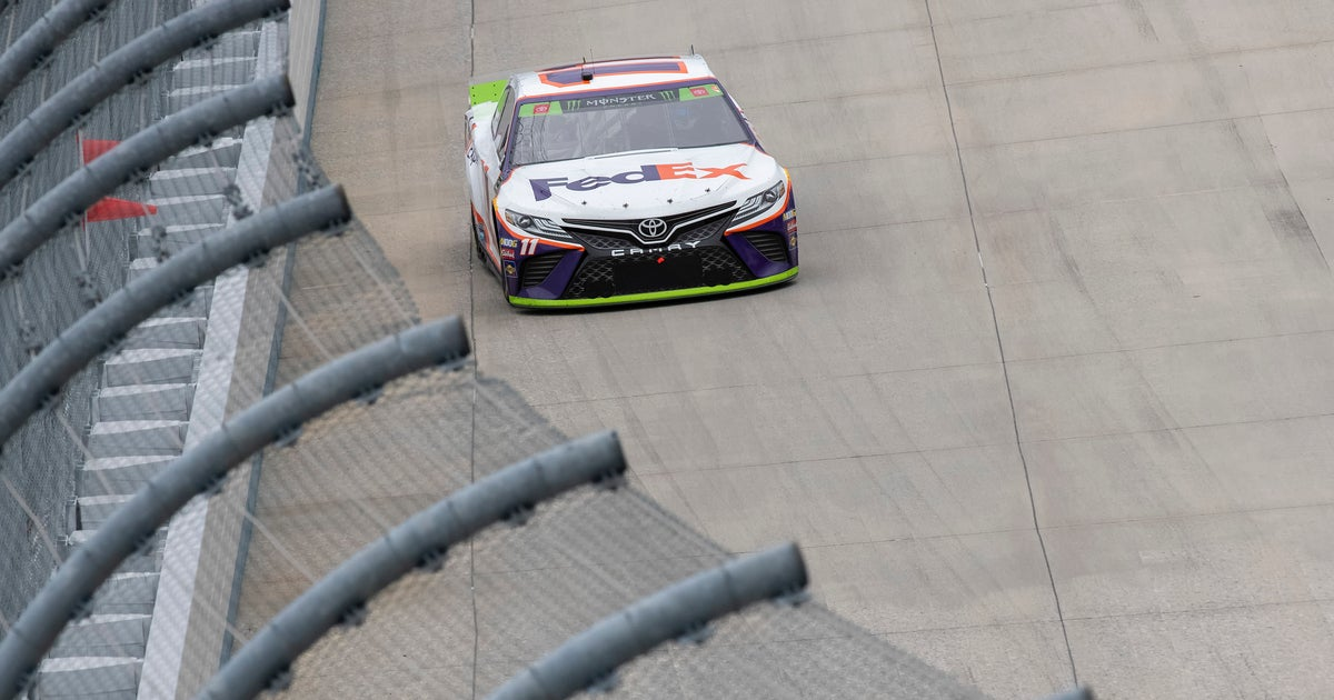 Denny Hamlin goes nearly 205 mph in Talladega practice | FOX Sports