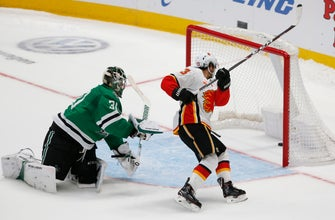 Gaudreau scores winner in shootout, Flames beat Stars 3-2