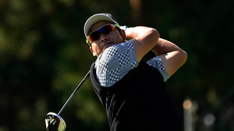 <p>               Hideki Matsuyama of Japan watches his tee shot on the 11th hole during the second round of the Zozo Championship PGA Tour at the Accordia Golf Narashino country club in Inzai, east of Tokyo, Japan, Saturday, Oct. 26, 2019. (AP Photo/Lee Jin-man)             </p>
