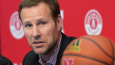 <p>               File- This April 2, 2019, file photo shows Fred Hoiberg being introduced as Nebraska's new NCAA college basketball head coach at a news conference in Lincoln, Neb. Nebraska fans will need to keep a roster handy when they watch Hoiberg's first Cornhuskers team. Of the 16 players, 14 weren't on the team in 2018-19. (AP Photo/Nati Harnik, File)             </p>