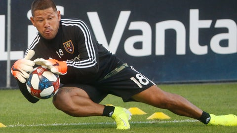 <p>               In this Aug. 24, 2019, photo, Real Salt Lake goalkeeper Nick Rimando makes a save at practice before the start of their game against the Colorado Rapids during an MLS soccer match, in Sandy, Utah. After 20 years, Rimando plans to step away from MLS. Veteran goalkeeper Rimando is playing out his final season in Major League Soccer after a career that had spanned 20 years. (AP Photo/Rick Bowmer)             </p>