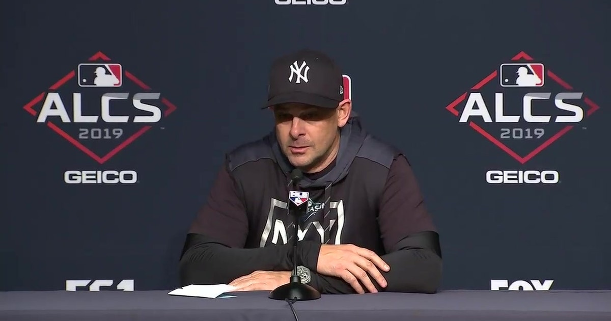 """Aaron Boone on motivating Yankees heading into ALCS Game 6: """"I don't have to say a word"""""""