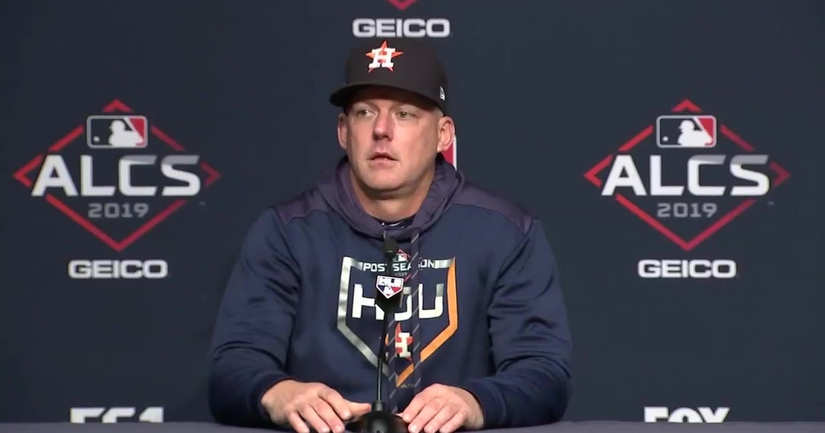 """A.J. Hinch said he is """"unlikely to use Gerrit Cole"""" in ALCS Game 6"""