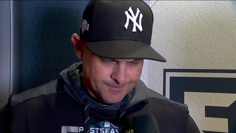 "Aaron Boone on the Yankees' performance against the Houston Astros: ""I'm proud"""