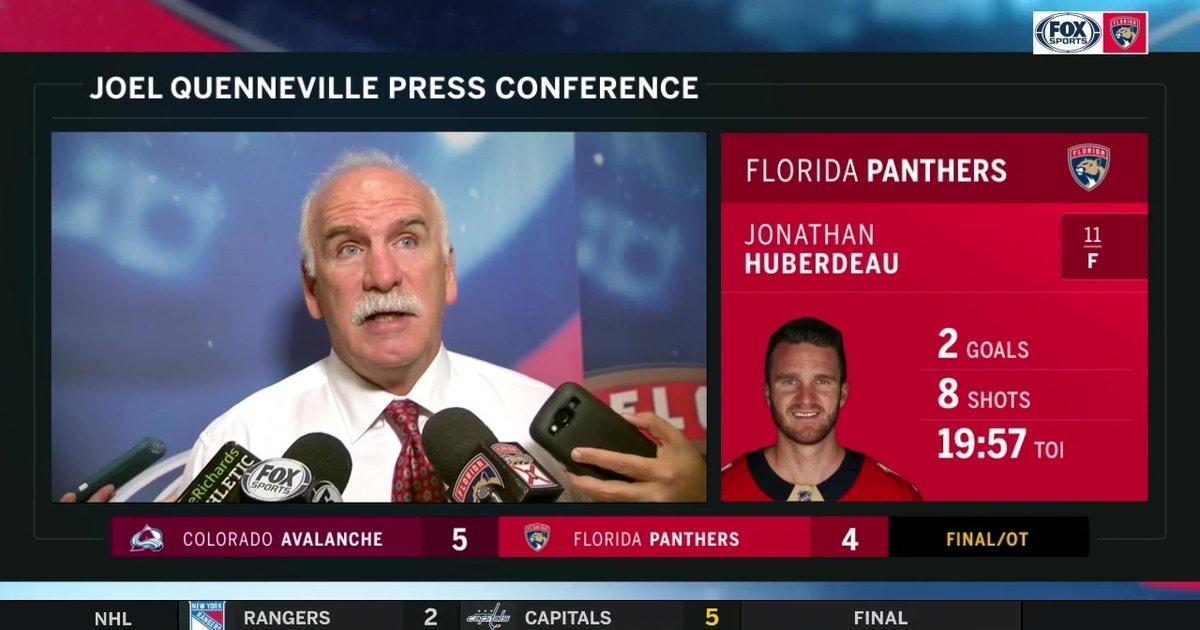 "Joel Quenneville recaps OT loss to Avalanche, wants ""stingier"" defense going forward"