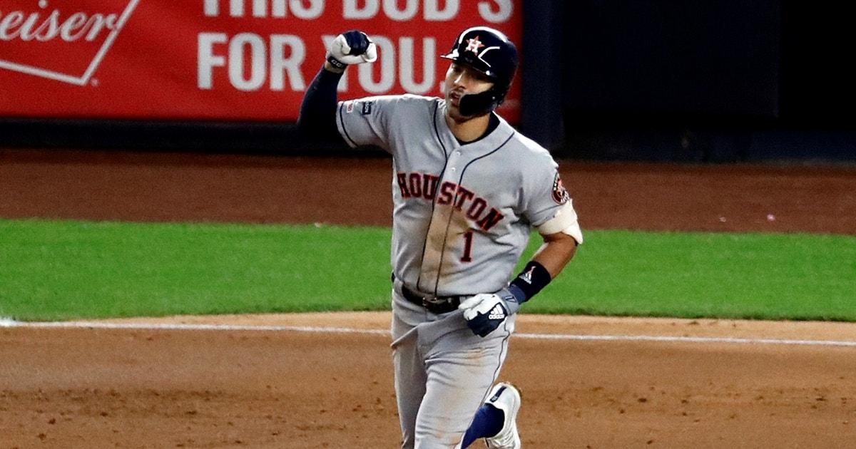 Carlos Correa reacts to Astros dominate Game 4 win over Yankees