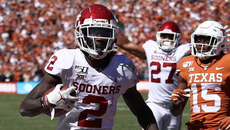 CeeDee Lamb's 3 TDs lead No. 6 Oklahoma over No. 11 Texas in Red River Showdown