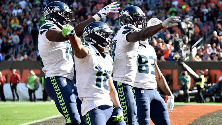 Seahawks bust out 'Bye, Bye, Bye' celebration as Russell Wilson outduels Baker Mayfield in Seattle win