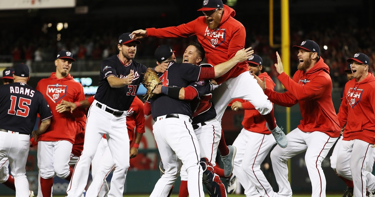 Watch the Washington Nationals celebrate first trip to World Series in franchise history