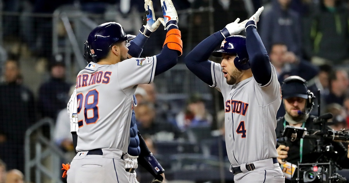 George Springer silences Yankee Stadium crowd with go-ahead three-run homer