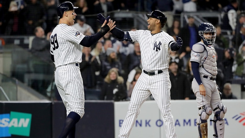 Aaron Hicks three-run shot off foul pole caps Yankees' four-run first inning off Verlander