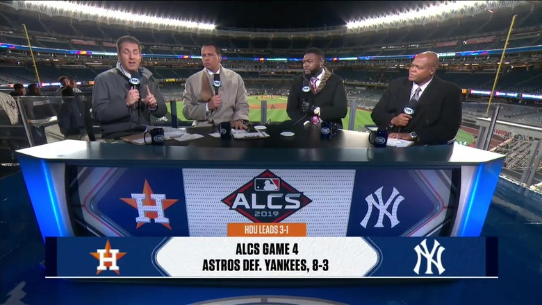 Alex Rodriguez, David Ortiz and Frank Thomas react to the Astros' dominant win in Game 4