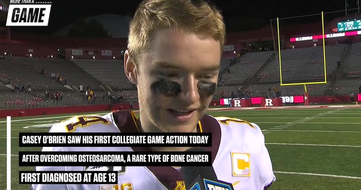 Four-time cancer survivor Casey O'Brien takes first collegiate snaps for Minnesota