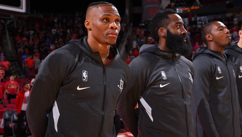 Shannon Sharpe doubts that James Harden can share the spotlight with Russell Westbrook